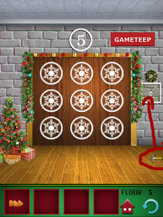 100 Floors Christmas Special Level 5 Gameteep