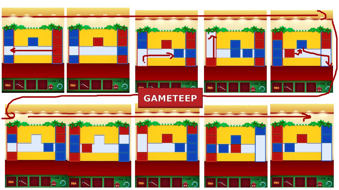 100 Floors Christmas Special Level 6 Gameteep