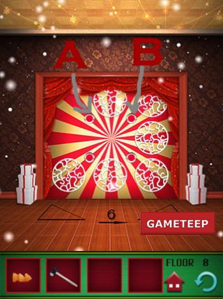 100 Floors Christmas Special Level 8 Gameteep