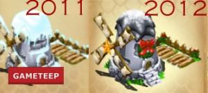 DragonVale Christmas Farm 2011 vs 2012