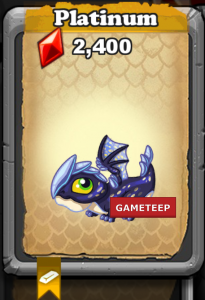 DragonVale Platinum Dragon Baby