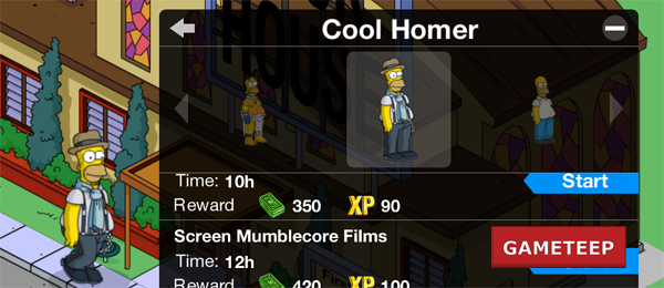 The simpsons tapped out.
