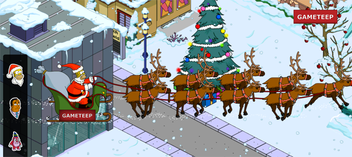 The Simpsons Tapped Out - Santa Sleigh Homer