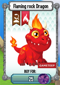 Dragon City Flaming Rock Dragon icon