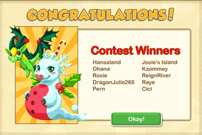Dragon Story Christmas Contest Winners