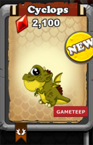 DragonVale Cyclops Dragon