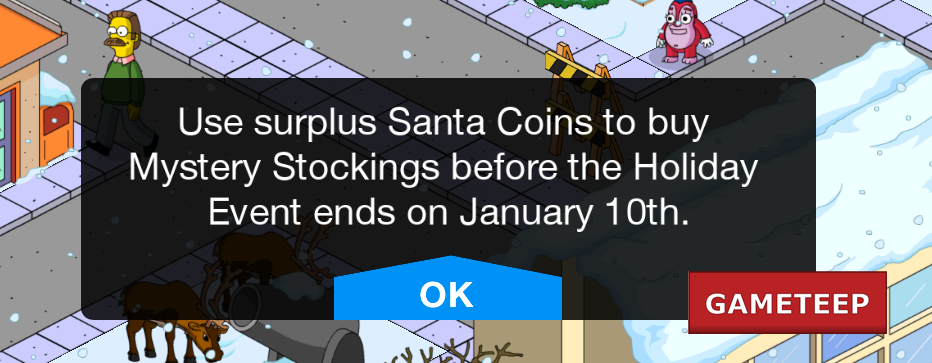 The Simpsons Tapped Out - Christmas Update Ending