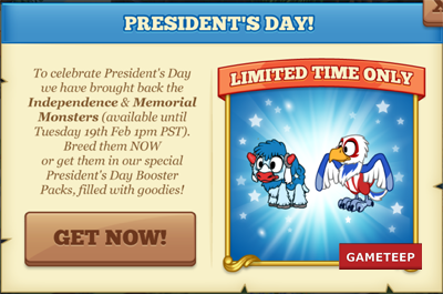 Tiny Monsters: President's Day Monsters 2013