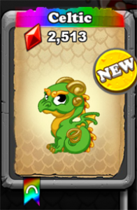 DragonVale Celtic Dragon