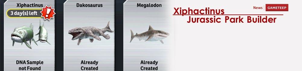 Xiphactinus Jurassic Park Builder