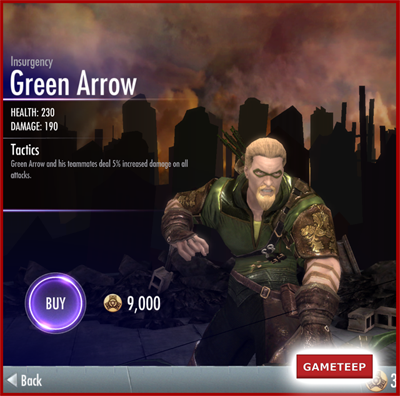 Injustice Gods Among Us - Insurgency Green Arrow