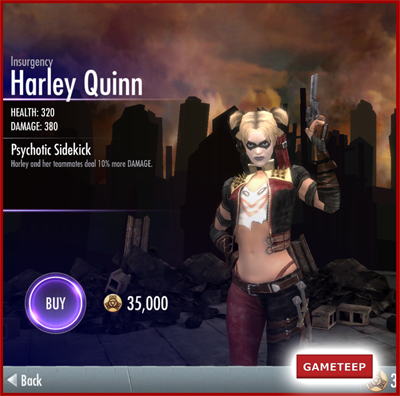 Injustice Gods Among Us - Insurgency Harley Quinn
