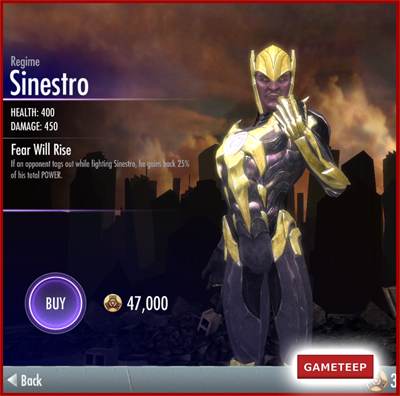 Injustice Gods Among Us - Regime Sinestro