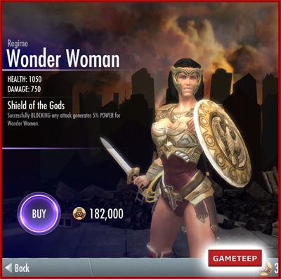Injustice Gods Among Us - Regime Wonder Woman