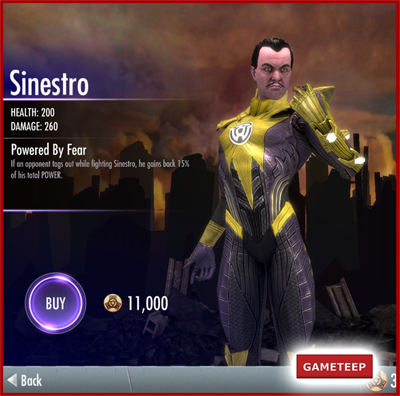 Injustice Gods Among Us - Sinestro