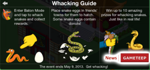 The Simpsons Tapped Out Snake Whacking Game
