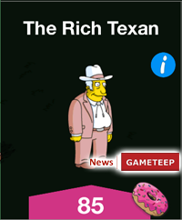 The Simpsons Tapped Out  The Rich Texan