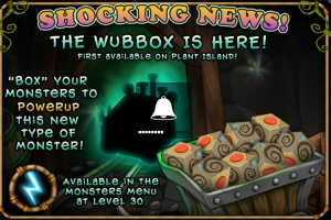 My Singing Monsters Wubbox Monster Release Screen
