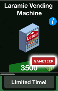 The Simpsons Tapped Out - Laramie Vending Machine