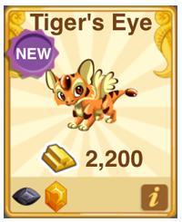 Dragon Story Tiger's Eye Dragon