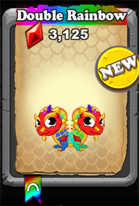 DragonVale Double Rainbow Dragon Baby