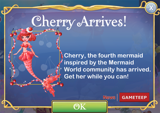 Mermaid World Cherry Mermaid Picture 1