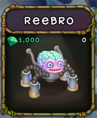 My Singing Monsters Reebro Monster