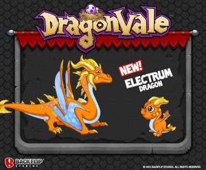 DragonVale Electrum Dragon Official Image