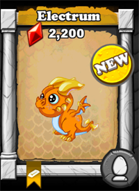 DragonVale Electrum Dragon