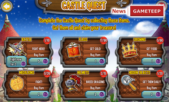 Dragon City Castle Island Quests