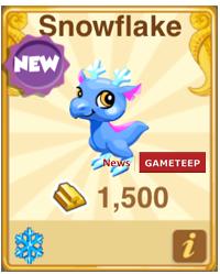 Dragon Story Snowflake Dragon