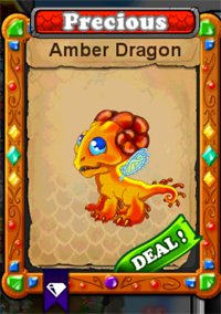 DragonVale Amber Dragon