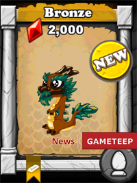 DragonVale Bronze Dragon