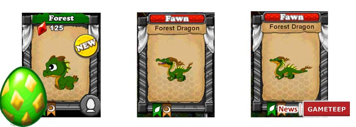 DragonVale Forest Dragon Evolution