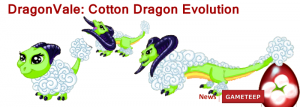 DragonVale Cotton Dragon Evolution