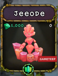 My Singing Monsters Jeeode Monster