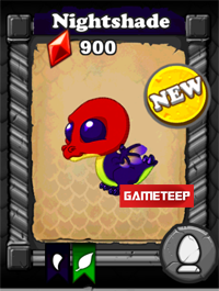 DragonVale Nightshade Dragon baby
