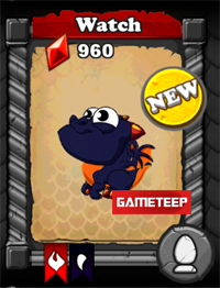 DragonVale Watch Dragon Baby