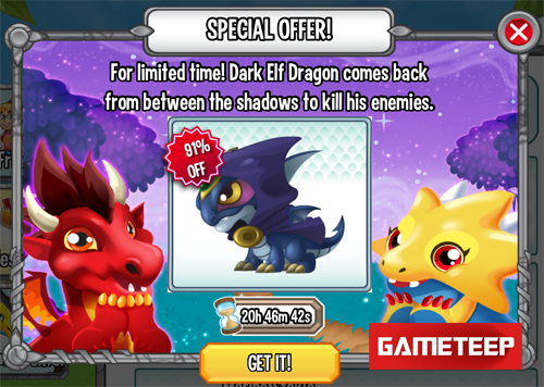 Dragon City: Dark Elf Dragon Released for Apple iOS & Android!