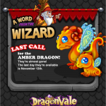 DragonVale: Amber Dragon Last Day To Breed!