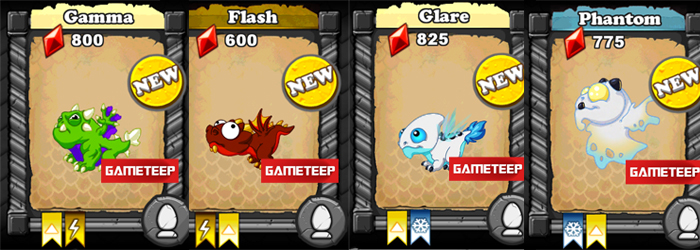 DragonVale Lightning Light Dragons