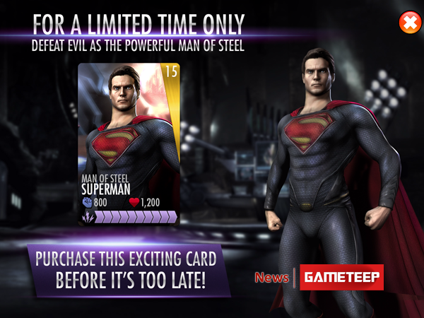 Injustice Gods Among Us - Man of Steel Is Limited Edition