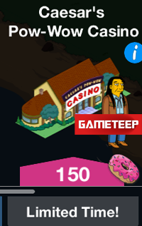 simpsons tapped out caesars pow wow casino