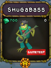 My Singing Monsters Shugabass Monster
