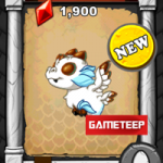 DragonVale: Snowy Bronze Dragon