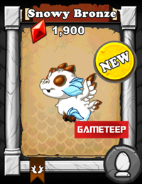 DragonVale Snowy Bronze Dragon
