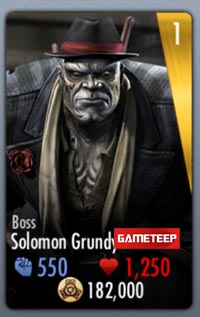 Injustice Gods Among Us Boss Grundy Card
