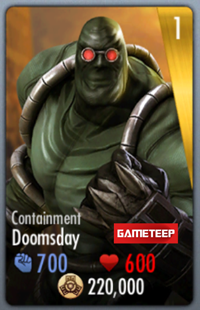 Injustice Gods Among Us Containment Doomsday Card
