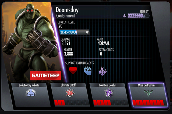 Injustice Gods Among Us Containment Doomsday Menu