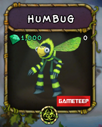 My Singing Monsters Humbug Monster